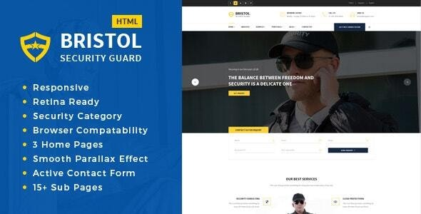 Bristol - Security Services HTML Template - Business Corporate