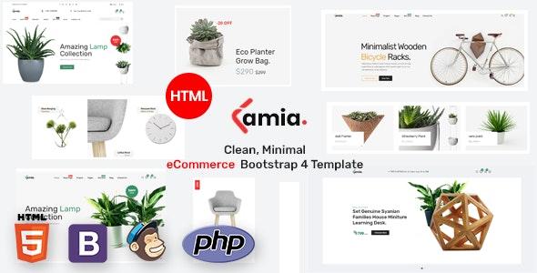 Lamia E-commerce Bootstrap 4 Template - Retail Site Templates