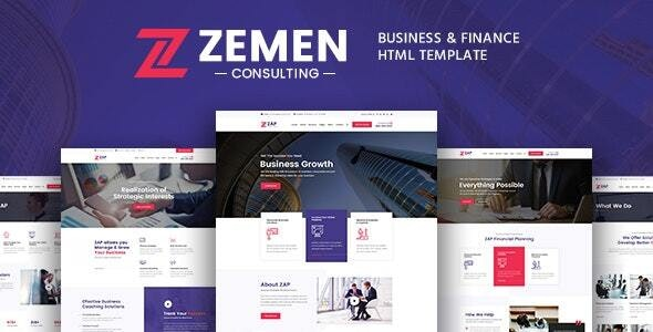 Zemen - Business Consulting and Professional Services HTML Template - Business Corporate