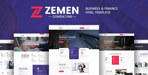 Zemen - Business Consulting and Professional Services HTML Template