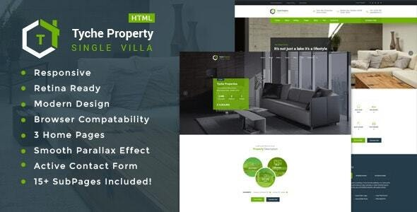 Tyche Properties - Single Property Real Estate HTML Template - Business Corporate