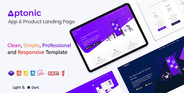 Aptonic - App Landing Page - Apps Technology