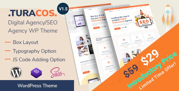 Turacos - Digital Agency/SEO Agency WordPress Theme - Marketing Corporate