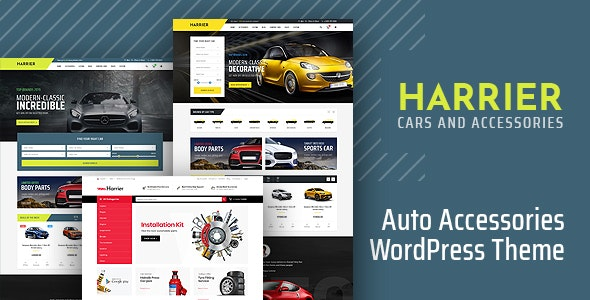 Harrier - Car Dealer and Automotive WordPress Theme - WooCommerce eCommerce