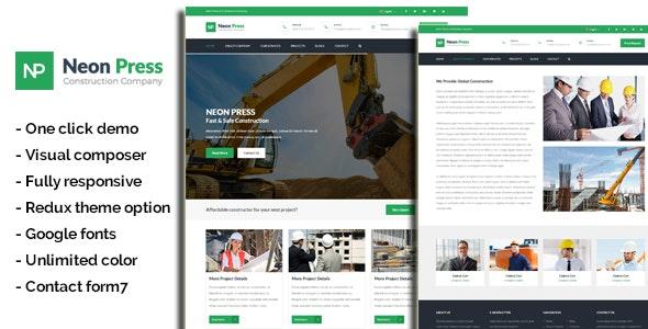 NeonPress - Business Construction WordPress Theme - Business Corporate