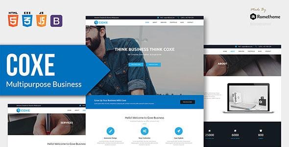 COXE - Corporate Multipurpose HTML Template - Corporate Site Templates