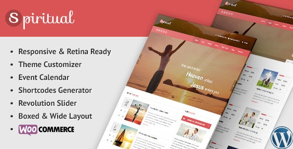 Spiritual - Church WordPress Theme (Responsive) by