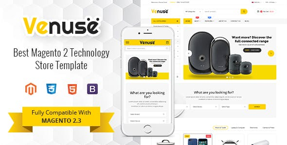 Venuse - Responsive Hitech/Digital Magento 2 Store Theme nulled theme download