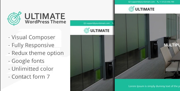 Ultimate - Responsive Multiple Purpose WordPress Theme - Business Corporate