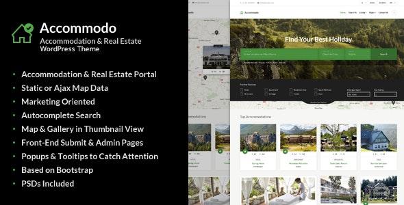 Accommodo - Accommodation Travel WordPress Theme - Travel Retail