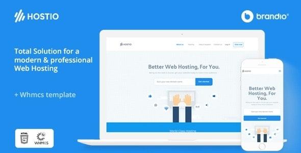 Hostio Web Hosting & WHMCS WordPress Theme - Hosting Technology