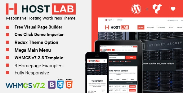 HostLab - Hosting Service And WHMCS WordPress Theme - Hosting Technology
