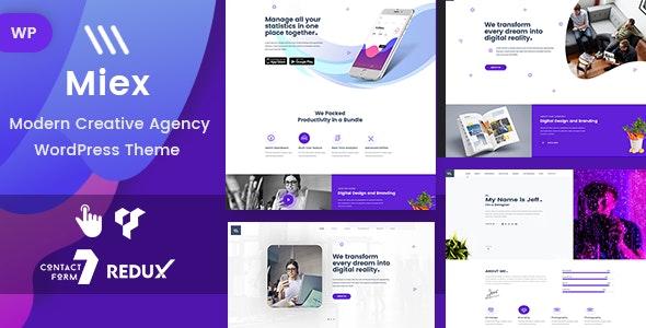 Miex - Creative Agency WordPress - Portfolio Creative