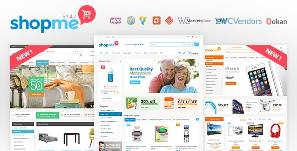 ShopMe - Multi Vendor Woocommerce WordPress Theme - WooCommerce eCommerce