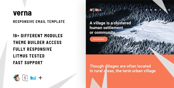 Verna  – Responsive HTML Email + StampReady, MailChimp & CampaignMonitor compatible files - Email Templates Marketing