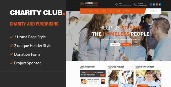 Charity Club || Responsive HTML Template for Fund Raising - Charity Nonprofit