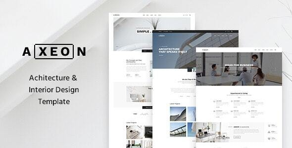 Axeon- Architecture, Interior and Renovation Template - Business Corporate