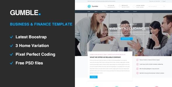 Gumble - Business and Finance HTML5 Template - Business Corporate