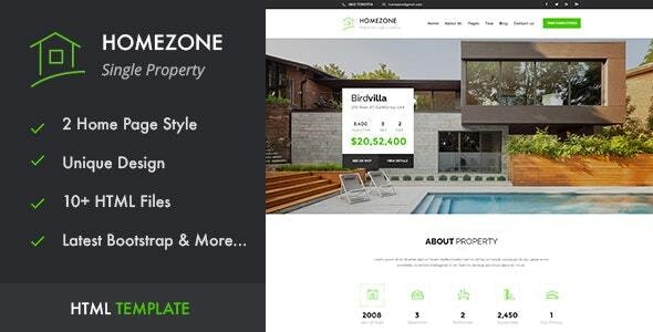 Homezone | Real Estate Single Property HTML5 Template - Business Corporate