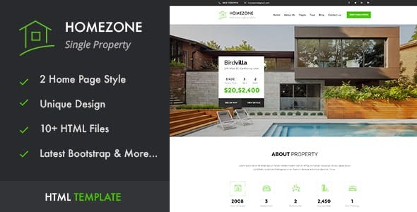 Homezone | Real Estate Single Property HTML5 Template