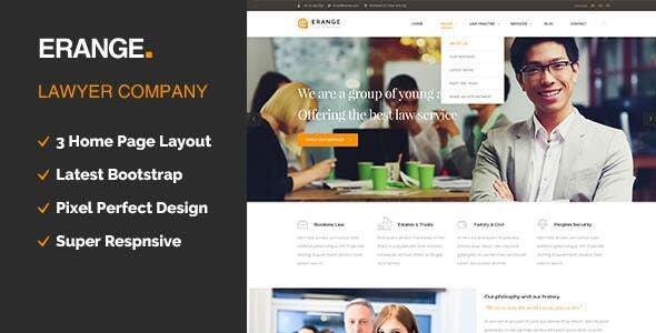 Erange- Responsive HTML Template for Law Firm - Business Corporate