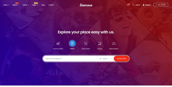 Qamous - Directory & Listing PSD Template