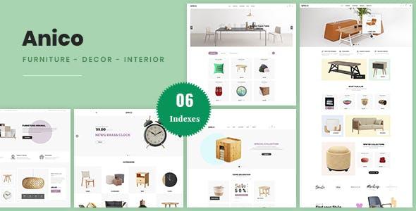 Anico - Minimalist Style PrestaShop 1.7 Theme For Furniture, Decor, Interior