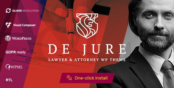 De Jure - Attorney and Lawyer WP Theme