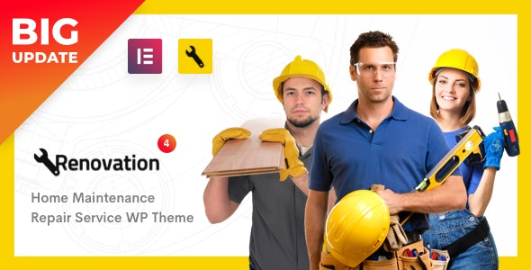 Repair Service, Home Maintenance Elementor WP Theme - Renovation - Business Corporate