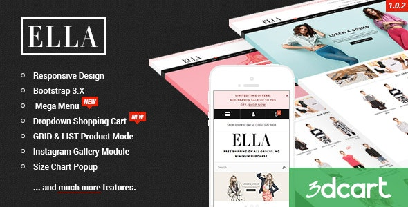 ELLA - Responsive 3dCart Template - 3dcart eCommerce