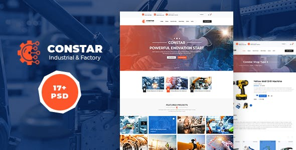 Constar – Industrial/ Manufacturing PSD Template