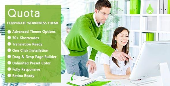 Quota - Business & Corporate Responsive WordPress Theme