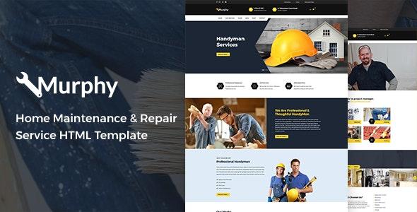Murphy - Home Maintenance & Repair Service HTML Template - Business Corporate
