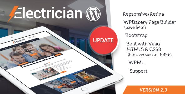 f55a6feb671 Electrician - Electricity Services WordPress Theme