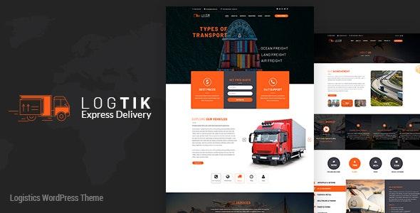 Logtik   Logistics, Cargo and Transportation WordPress Theme - WordPress