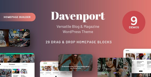 Davenport - Versatile Blog and Magazine WordPress Theme - News / Editorial Blog / Magazine