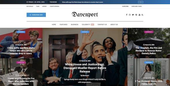 Davenport - Versatile Blog and Magazine WordPress Theme