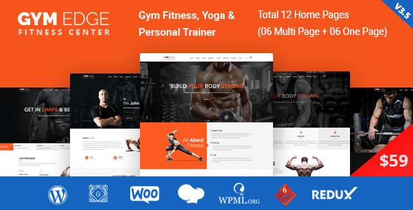 Gym Edge - Gym Fitness WordPress Theme - Health & Beauty Retail