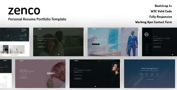 Zenco - Maultipage Template By Dsahathemes - Portfolio Creative
