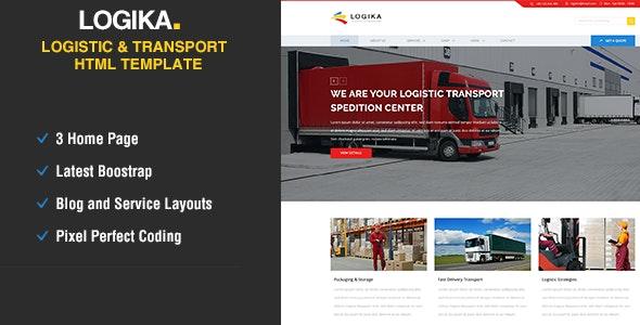 Logica - Logistic, Warehouse & Transport HTML - Business Corporate