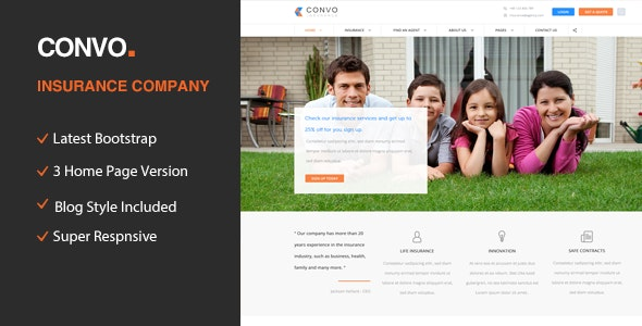 Convo - HTML5 template for Business And Insurance Agency - Business Corporate