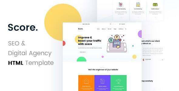 Score - SEO /Digital Agency HTML5 Template - Portfolio Creative