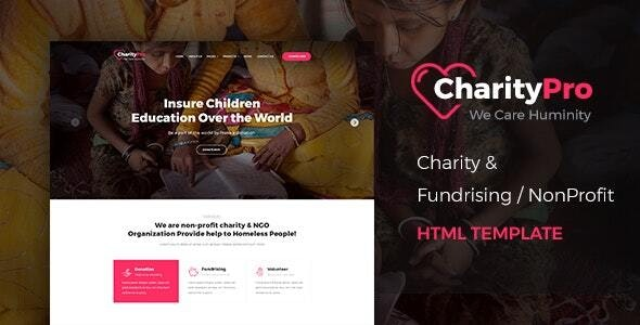 Charity Pro - Responsive HTML Template for Fund Raising - Charity Nonprofit