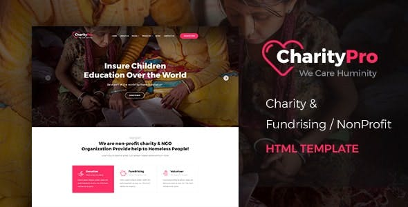 Charity Pro - Responsive HTML Template for Fund Raising