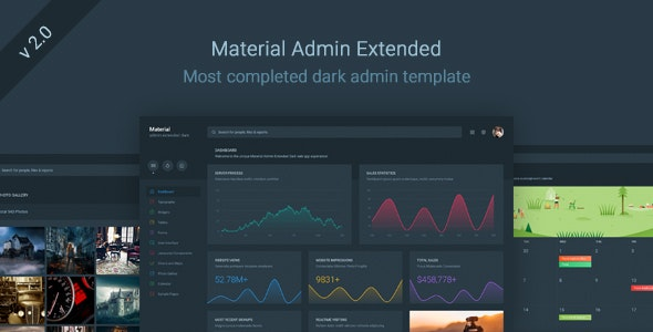 Material Admin Extended - Dark Responsive Template - Admin Templates Site Templates