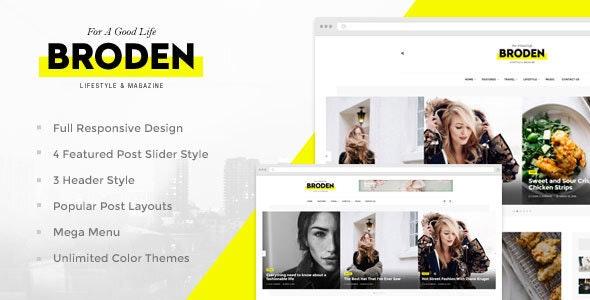 Broden - Lifestyle Blog / Magazine - Blog / Magazine WordPress