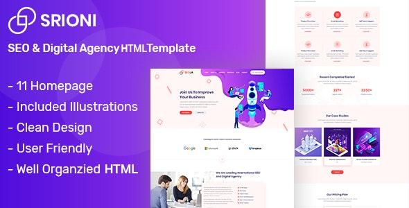 Seoja - SEO & Digital Agency HTML Template - Marketing Corporate