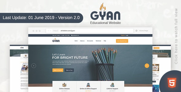 Gyan - Educational HTML Template - Business Corporate