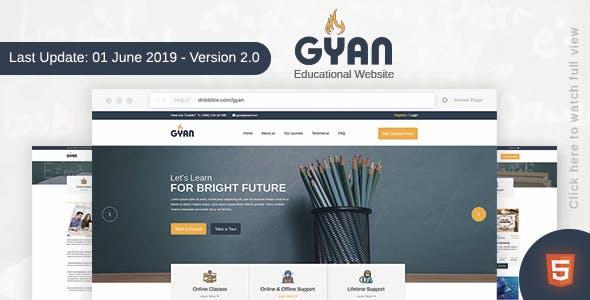 Gyan - Educational HTML Template