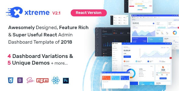Xtreme React Admin Template by wrappixel | ThemeForest